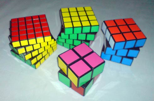 2x2 3x3 4x4 5x5 Rubik's Cubes
