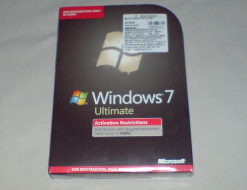 Windows 7 Unboxing