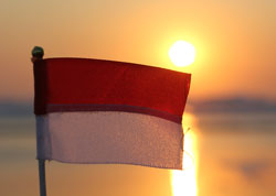 Indonesian Flag in Bali