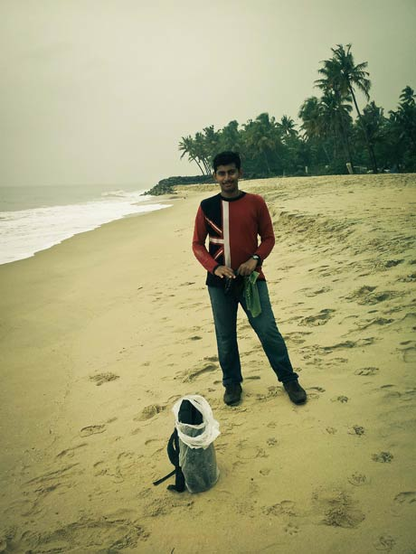 Me on Alleppey Beach
